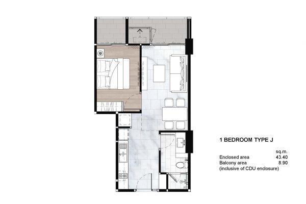 1 Bedroom Type J