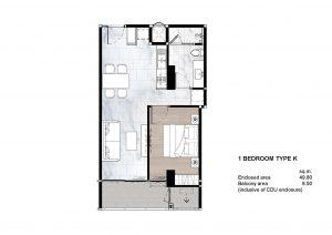 1 Bedroom Type K