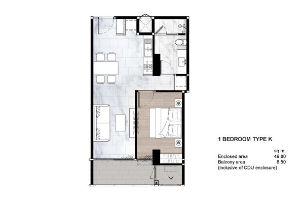 1 Bedroom Type K