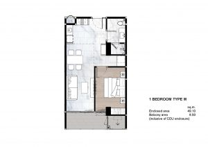 1 Bedroom Type M