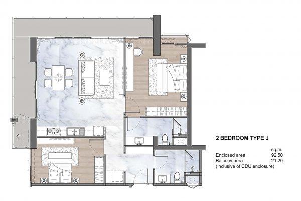 2 Bedroom Type J