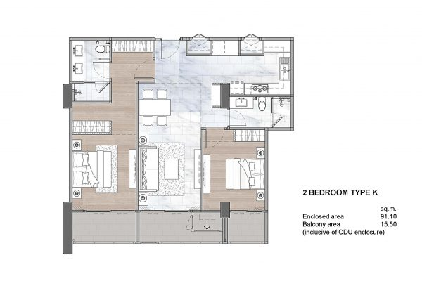 2 Bedroom Type K