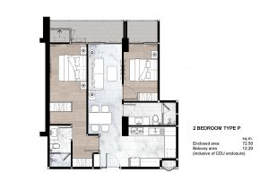2 Bedroom Type P