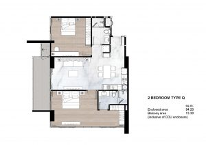 2 Bedroom Type Q