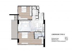 2 Bedroom Type Q