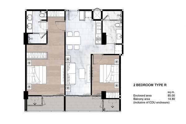 2 Bedroom Type R