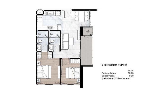 2 Bedroom Type S