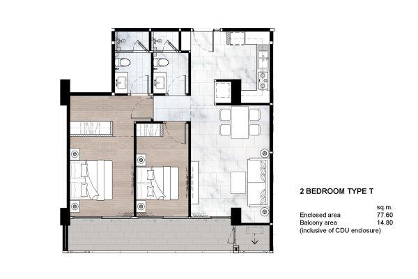 2 Bedroom Type T