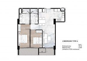 2 Bedroom Type U
