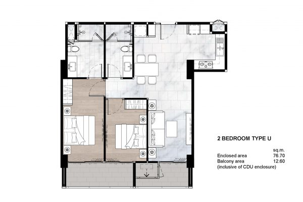 2 Bedroom Type U
