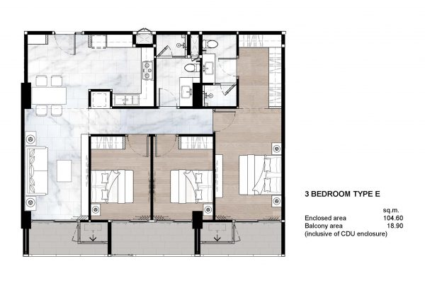 3 Bedroom Type E