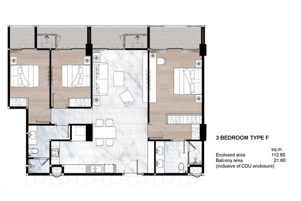 3 Bedroom Type F