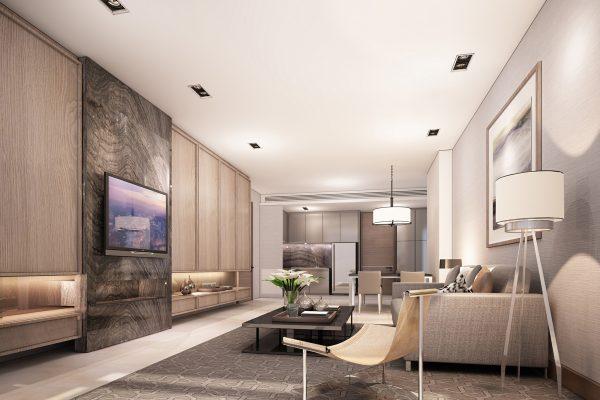 E. 2 BR unit type_Living room