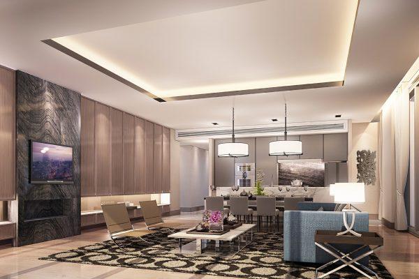 H. 3 BR unit type_Living Room